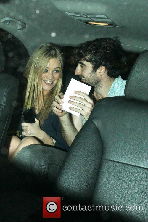 Laura Whitmore and a friend leave an afterparty...