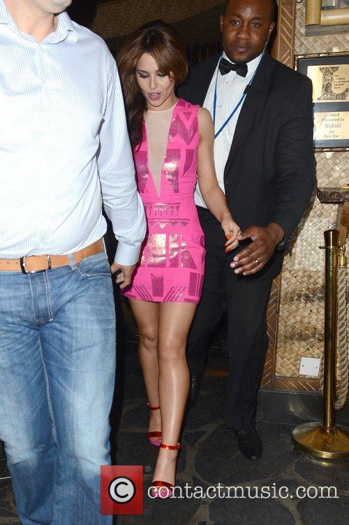 cheryl cole leaves mahiki nightclub london england   010612 3921411
