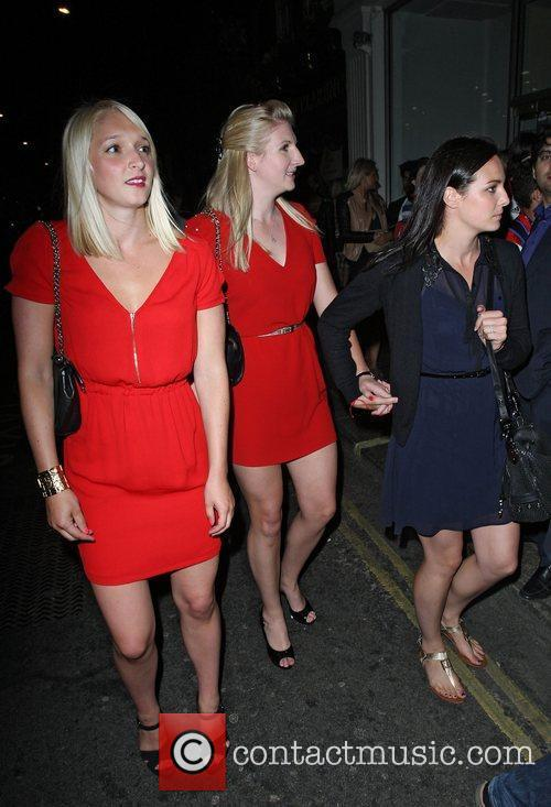 Olympic Freestyle Swimmer Rebecca Adlington (centre) and swimmer...