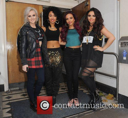 Perrie Edwards, Leigh-anne, Pinnock, Jade Thirlwall, Jesy Nelson, Little Mix, Maida Vale and Live Lounge 3