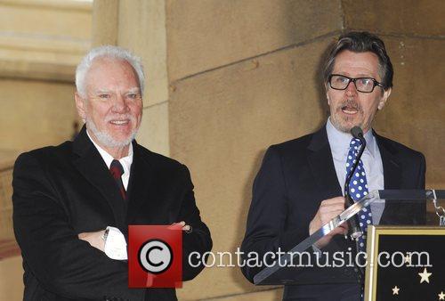 Malcolm McDowell, Gary Oldman The Hollywood Walk of...