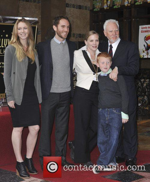 Malcolm McDowell with his family The Hollywood Walk...