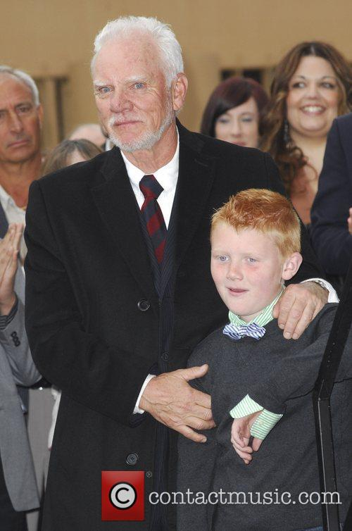 Malcolm McDowell with his son Beckett  The...