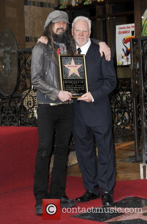 Rob Zombie, Malcolm Mcdowell and Walk Of Fame 7