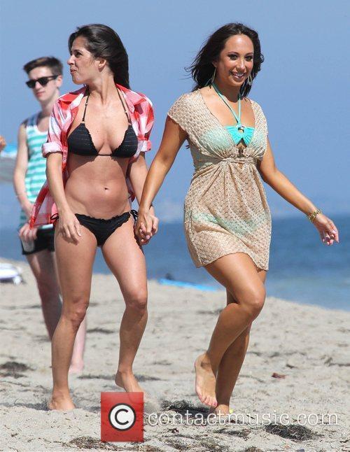 Cheryl Burke and Kelly Monaco enjoy the day...