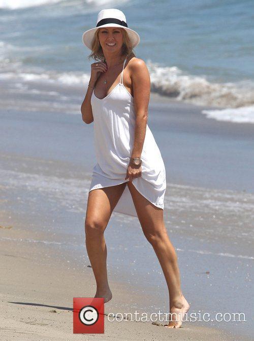 Kym Johnson enjoys the day on Malibu Beach...