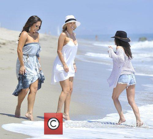Cheryl Burke, Kym Johnson, and Kelly Monaco enjoy...