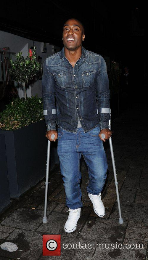 Simon Webbe leaving Malibu Red launch party held...
