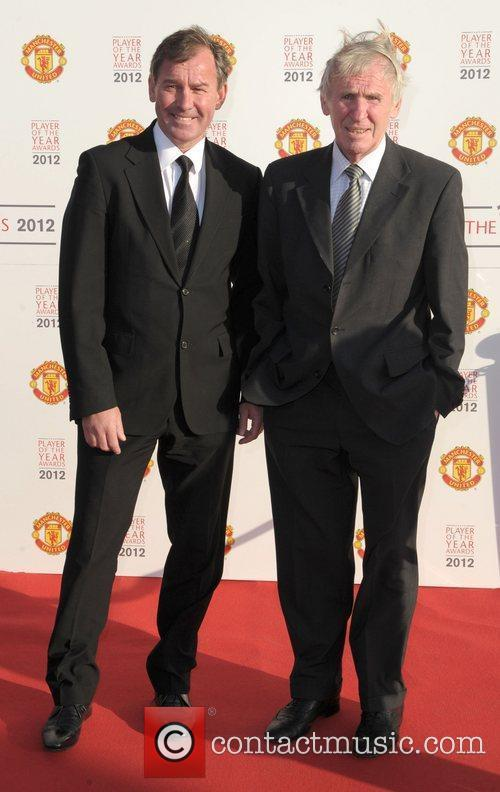 Brian Robson and Paddy Crerand Manchester United Player...