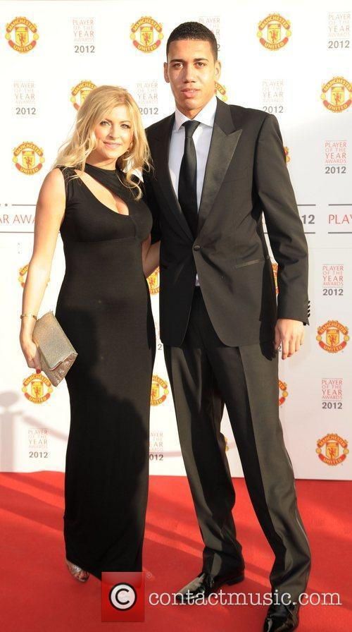Chris Smalling and guest  Manchester United Player...