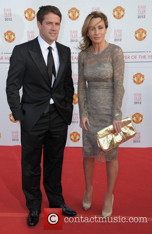 Micheal Owen and his wife  Manchester United...