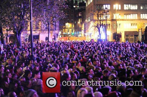 Manchester Christmas Lights switch-on at Albert Square
