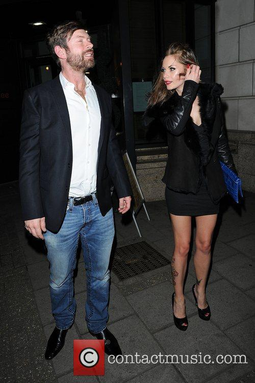 Lee Stafford and Jessica-Jane Clement leaves Mango Tree...