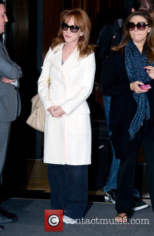 Leaves her Manhattan hotel