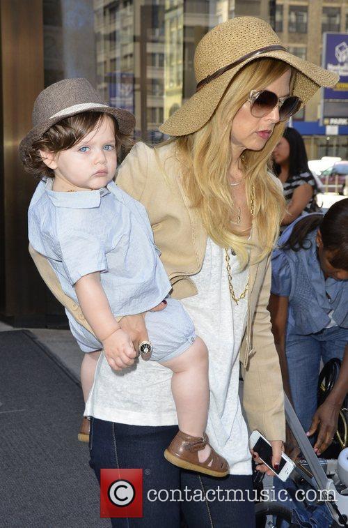 Rachel Zoe with her son Skyler Celebrities leave...