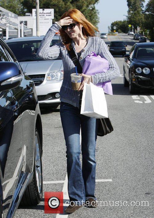 Marcia Cross shopping in Brentwood Los Angeles, California