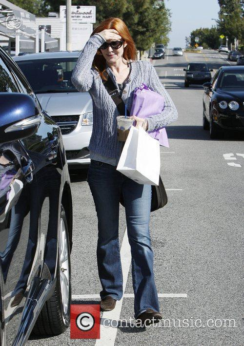 Marcia Cross shopping in Brentwood