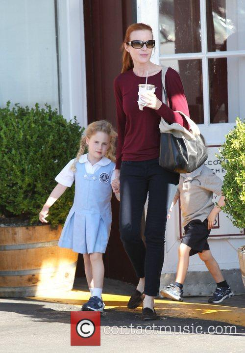 Marcia Cross at Farmers Martket in Brentwood with...