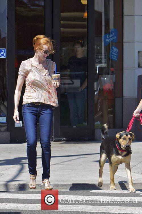 Marcia Cross  leaving the Coffee Bean and...