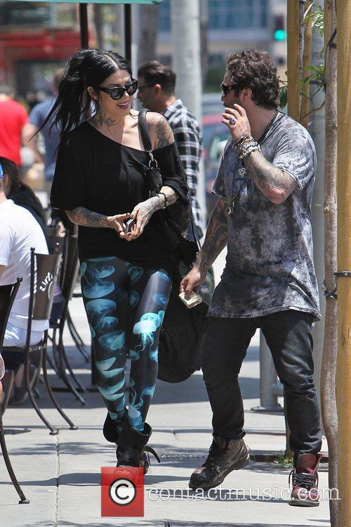Bam Margera and Kat Von D 1