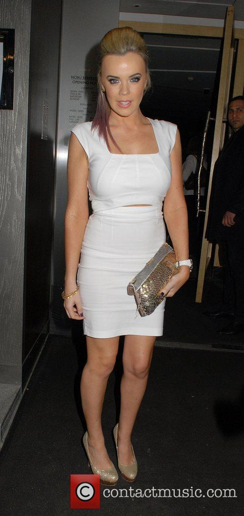 Maria Fowler wearing a white dress at Nobu.