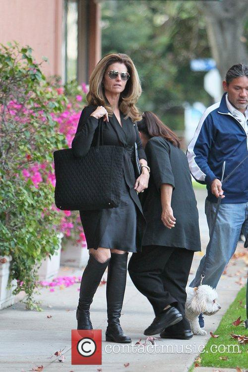 Maria Shriver leaving a salon in Beverly Hills...