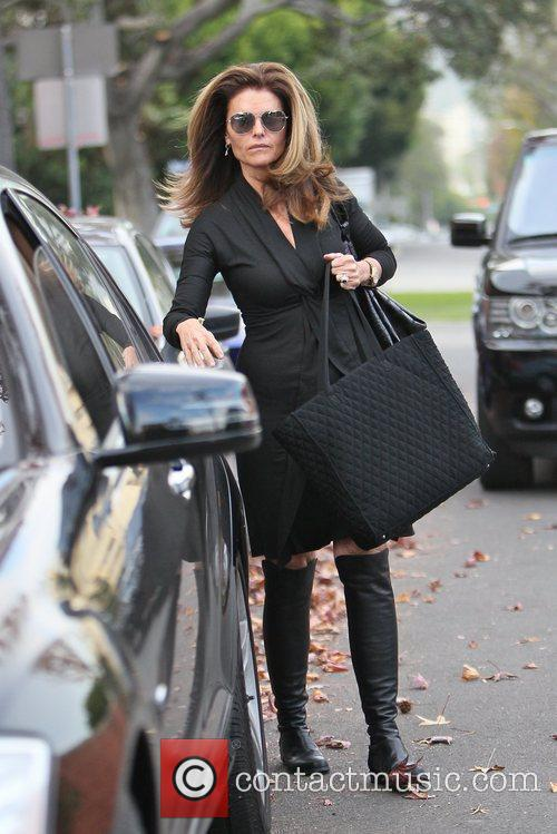 Leaving a salon in Beverly Hills after getting...