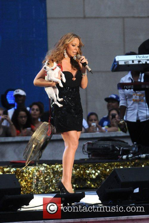 Mariah Carey,  performs during the 2012 NFL...