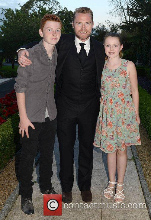 Ronan Keating, son Jack Keating and daughter Missy...