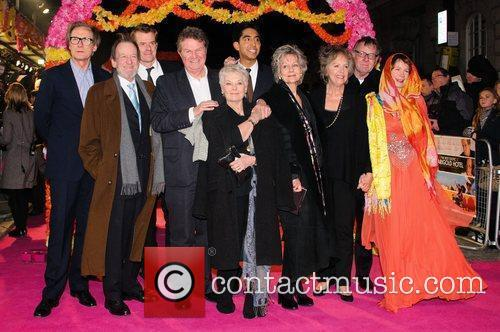 Celia Imrie, Bill Nighy, John Madden, Judi Dench, Penelope Wilton and Tom Wilkinson 4