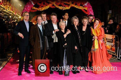 Celia Imrie, Bill Nighy, John Madden, Judi Dench, Penelope Wilton and Tom Wilkinson 6