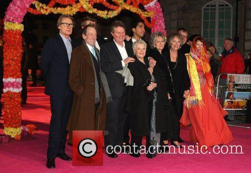 Celia Imrie, Bill Nighy, John Madden, Judi Dench, Penelope Wilton and Tom Wilkinson 2