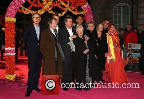 Celia Imrie, Bill Nighy, John Madden, Judi Dench, Penelope Wilton and Tom Wilkinson 3