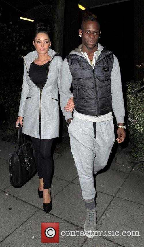 Footballer Mario Balotelli takes Raffaella Fico to dinner...