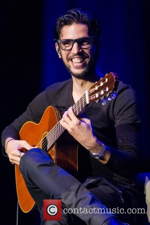 Musician performing live in concert at Coliseu dos...
