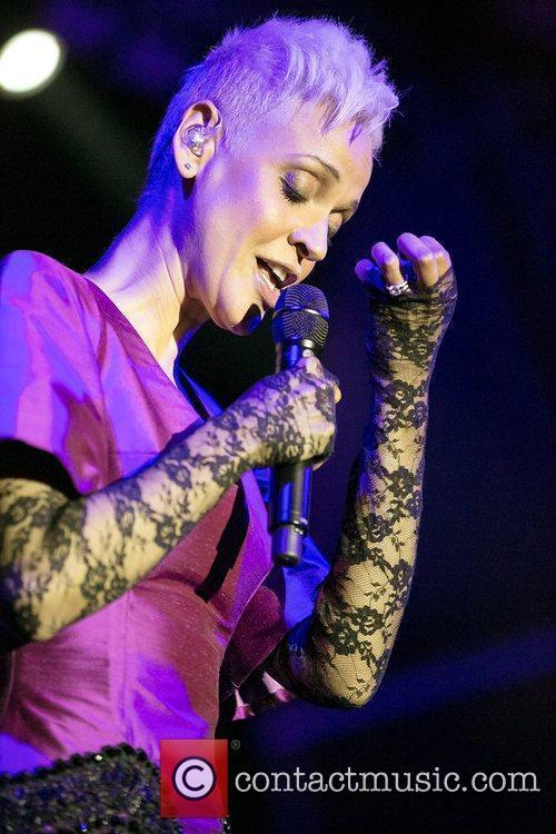 Portuguese Fado singer Mariza performing live at Cascais...