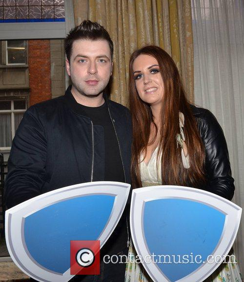 Westlife's Mark Feehily and The Voice's Keira Byrne...
