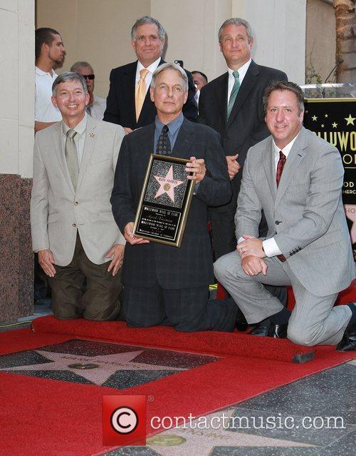 Mark Harmon, Leslie Moonves, Guests and Star On The Hollywood Walk Of Fame 3