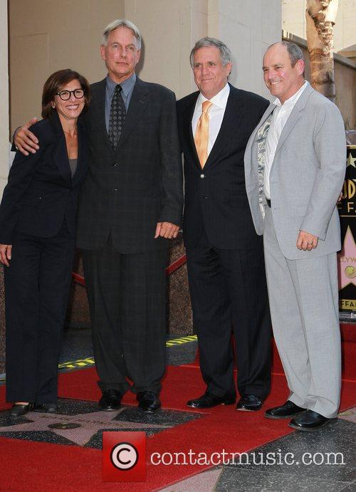 Mark Harmon, Leslie Moonves, Guests and Star On The Hollywood Walk Of Fame 1
