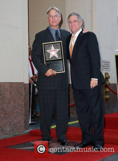 Mark Harmon, Leslie Moonves and Star On The Hollywood Walk Of Fame 10