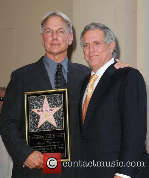 Mark Harmon, Leslie Moonves and Star On The Hollywood Walk Of Fame 4