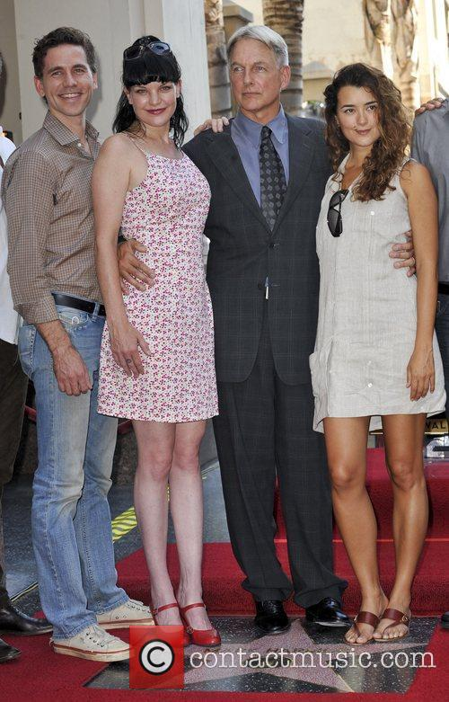 Brian Dietzen, Pauley Perrette, Mark Harmon and Cote De Pablo 2