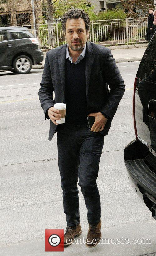 Mark Ruffalo  arriving at the Rogers Building...