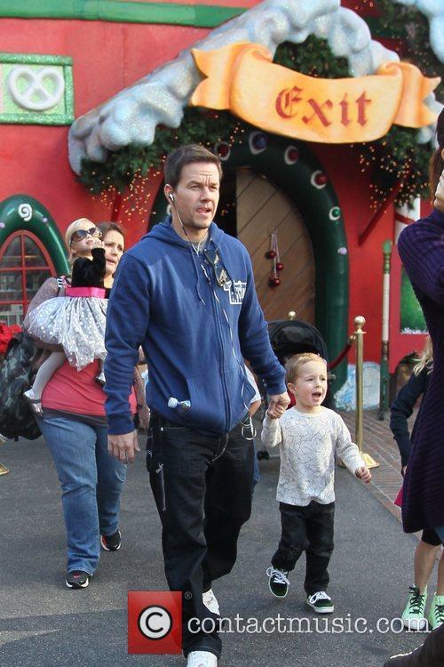 Mark Wahlberg and his family visit Santa's house...