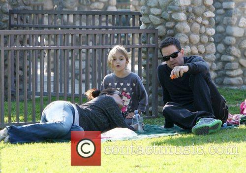 Mark Wahlberg and his wife Rhea Durham enjoy...
