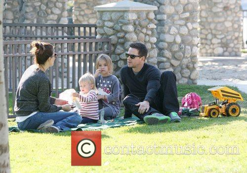 Mark Wahlberg and his wife Rhea Durham enjoy...