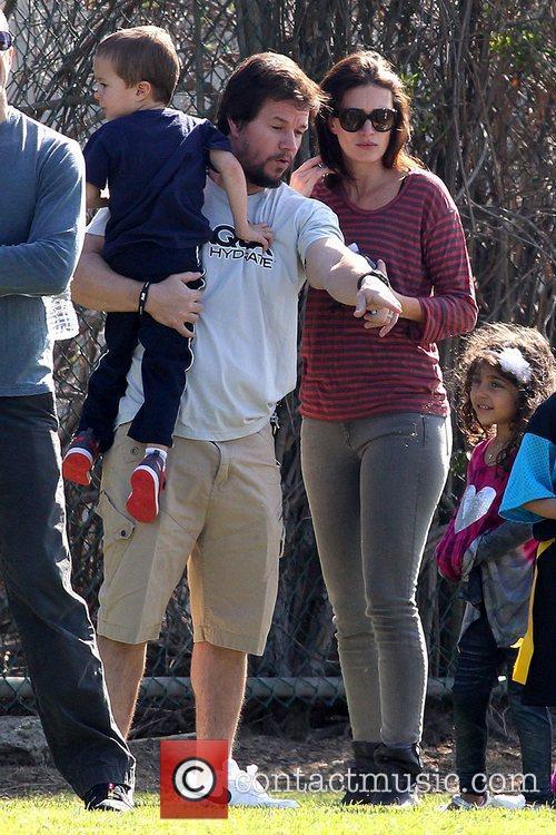 Brendan Wahlberg, Mark Wahlberg and Rhea Durham Mark...