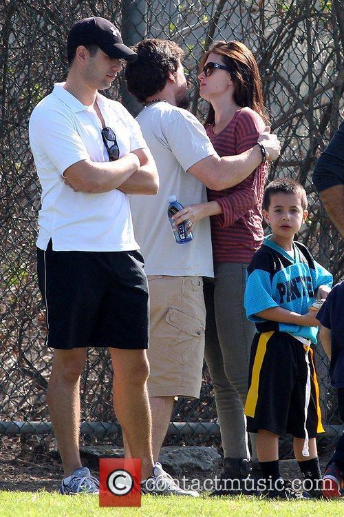 Mark Wahlberg and Rhea Durham embracing Mark Wahlberg...