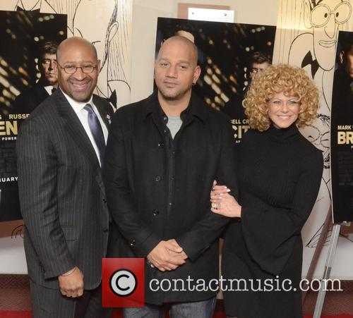 Philadelphia Mayor Michael Nutter, L, C, Film, Allen Hughes and Sharon Pinkenson