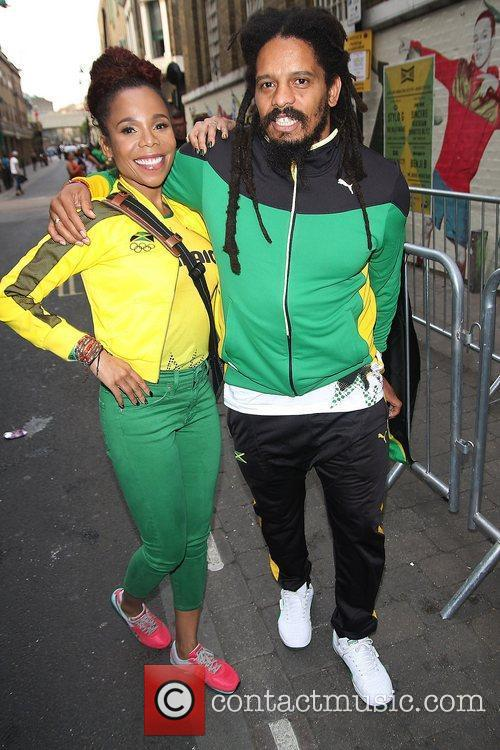 Cedella Marley and Rohan Marley at Puma Yard...